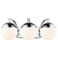 Golden Lighting 3218-BA3-CH-CH Dixon 3 Light 21 inch Chrome Bath Fixture Wall Light alternative photo thumbnail