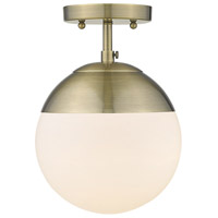 Golden Lighting 3218-SF-AB-AB Dixon 1 Light 8 inch Aged Brass Semi-Flushmount Ceiling Light
