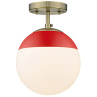 Golden Lighting 3218-SF-AB-RED Dixon 1 Light 8 inch Aged Brass Semi-Flushmount Ceiling Light alternative photo thumbnail