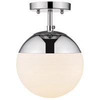 Golden Lighting 3218-SF-CH-CH Dixon 1 Light 8 inch Chrome Semi-Flushmount Ceiling Light
