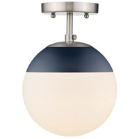 Golden Lighting 3218-SF-PW-MNVY Dixon 1 Light 8 inch Pewter Semi-Flushmount Ceiling Light