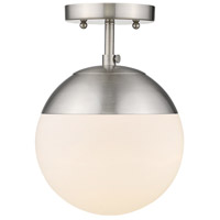 Golden Lighting 3218-SF-PW-PW Dixon 1 Light 8 inch Pewter Semi-Flushmount Ceiling Light