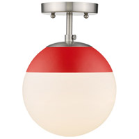 Golden Lighting 3218-SF-PW-RED Dixon 1 Light 8 inch Pewter Semi-Flushmount Ceiling Light