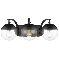 Golden Lighting 3219-BA3-BLK-BLK Dixon 3 Light 21 inch Black Bath Fixture Wall Light