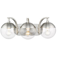 Golden Lighting 3219-BA3-PW-PW Dixon 3 Light 21 inch Pewter Bath Fixture Wall Light