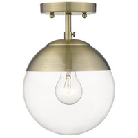 Golden Lighting 3219-SF-AB-AB Dixon 1 Light 8 inch Aged Brass Semi-Flushmount Ceiling Light