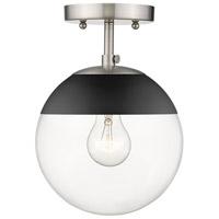 Golden Lighting 3219-SF-PW-BLK Dixon 1 Light 8 inch Pewter Semi-Flushmount Ceiling Light