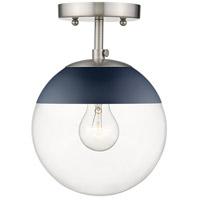 Golden Lighting 3219-SF-PW-MNVY Dixon 1 Light 8 inch Pewter Semi-Flushmount Ceiling Light