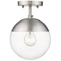 Golden Lighting 3219-SF-PW-PW Dixon 1 Light 8 inch Pewter Semi-Flushmount Ceiling Light