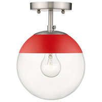 Golden Lighting 3219-SF-PW-RED Dixon 1 Light 8 inch Pewter Semi-Flushmount Ceiling Light