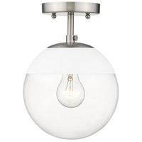 Golden Lighting 3219-SF-PW-WHT Dixon 1 Light 8 inch Pewter Semi-Flushmount Ceiling Light