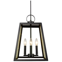 Abbott 4 Light 12 inch Black Pendant Ceiling Light