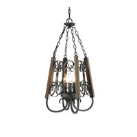 Golden Lighting Moreno 3 Light Pendant in Black Iron 3281-3P-BI