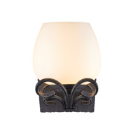 Golden Moreno 1 Light Sconce in Black Iron 3281-BA1-BI