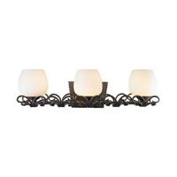 Golden Lighting Moreno 3 Light Bath Vanity in Black Iron 3281-BA3-BI