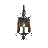 Golden Lighting Moreno 1 Light Wall Sconce in Black Iron 3281-WSC-BI