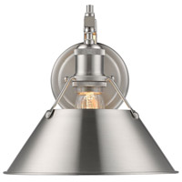 Golden Lighting 3306-1W-PW-PW Orwell 1 Light 10 inch Pewter Wall Sconce Wall Light