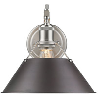 Golden Lighting 3306-1W-PW-RBZ Orwell 1 Light 10 inch Pewter Wall Sconce Wall Light in Rubbed Bronze