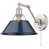 Golden Lighting 3306-A1W PW-NVY Orwell 12 inch 100.00 watt Pewter Adjustable Wall Sconce Wall Light