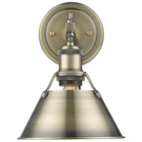 Orwell 1 Light 8 inch Aged Brass Bath Vanity Wall Light