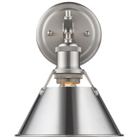 Golden Lighting 3306-BA1 PW-CH Orwell 1 Light 8 inch Pewter Bath Fixture Wall Light in Chrome