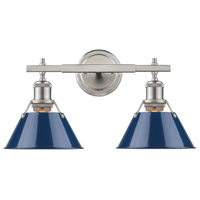 Orwell 2 Light 18 inch Pewter Bath Vanity Wall Light in Navy
