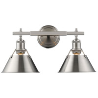 Orwell 2 Light 18 inch Pewter Bath Vanity Wall Light