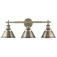 Orwell 3 Light 24 inch Aged Brass Bath Vanity Wall Light