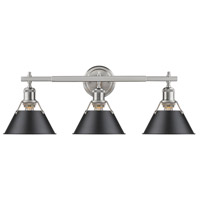 Orwell 3 Light 24 inch Pewter Bath Vanity Wall Light in Black