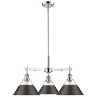 Orwell 3 Light 28 inch Chrome Nook Chandelier Ceiling Light