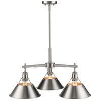 Golden Lighting 3306-D3-PW-PW Orwell 3 Light 28 inch Pewter Nook Chandelier Ceiling Light alternative photo thumbnail