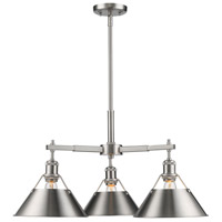 Golden Lighting 3306-D3-PW-PW Orwell 3 Light 28 inch Pewter Nook Chandelier Ceiling Light photo thumbnail