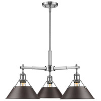 Orwell 3 Light 28 inch Pewter Nook Chandelier Ceiling Light in Rubbed Bronze