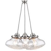 Asha 3 Light 17 inch Pewter Pendant Cluster Ceiling Light