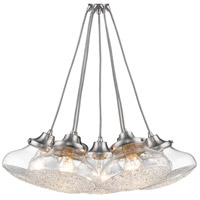 Asha 7 Light 23 inch Pewter Pendant Cluster Ceiling Light