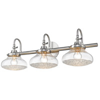 Golden Lighting 3417-BA3 PW-CC Asha 3 Light 29 inch Pewter Bath Fixture Wall Light alternative photo thumbnail