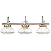 Golden Lighting 3417-BA3-PW-CC Asha 3 Light 29 inch Pewter Bath Vanity Wall Light