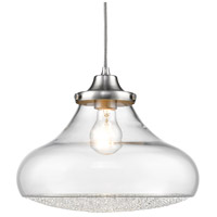 Golden Lighting 3417-L-PW-CC Asha 1 Light 12 inch Pewter Pendant Ceiling Light