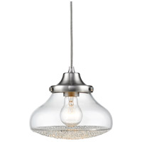 Asha 1 Light 8 inch Pewter Mini Pendant Ceiling Light