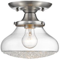 Asha 1 Light 8 inch Pewter Semi-Flush Mount Ceiling Light