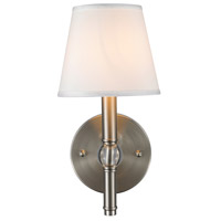 Golden Lighting 3500-1W-PW-CWH Waverly 1 Light 6 inch Pewter Wall Sconce Wall Light in Classic White Shade