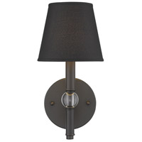 Golden Lighting 3500-1W-RBZ-GRM Waverly 1 Light 6 inch Rubbed Bronze Sconce Wall Light in Tuxedo Shade