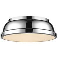 Duncan 2 Light 14 inch Chrome Flush Mount Ceiling Light