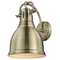 Duncan 1 Light 9 inch Aged Brass Wall Sconce Wall Light