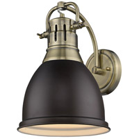Duncan 1 Light 9 inch Aged Brass Wall Sconce Wall Light in Rubbed Bronze