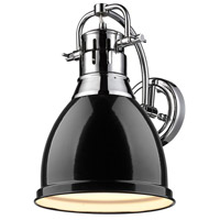 Duncan 1 Light 9 inch Chrome Wall Sconce Wall Light in Black