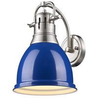 Duncan 1 Light 9 inch Pewter Wall Sconce Wall Light in Blue