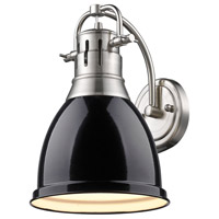 Duncan 1 Light 9 inch Pewter Wall Sconce Wall Light in Black