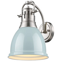 Duncan 1 Light 9 inch Pewter Wall Sconce Wall Light in Seafoam