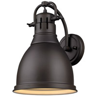 Golden Lighting Duncan 1 Light Sconce in Rubbed Bronze 3602-1W-RBZ-RBZ